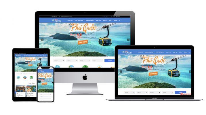 Halo Media thiết kế website chuẩn seo web du lich