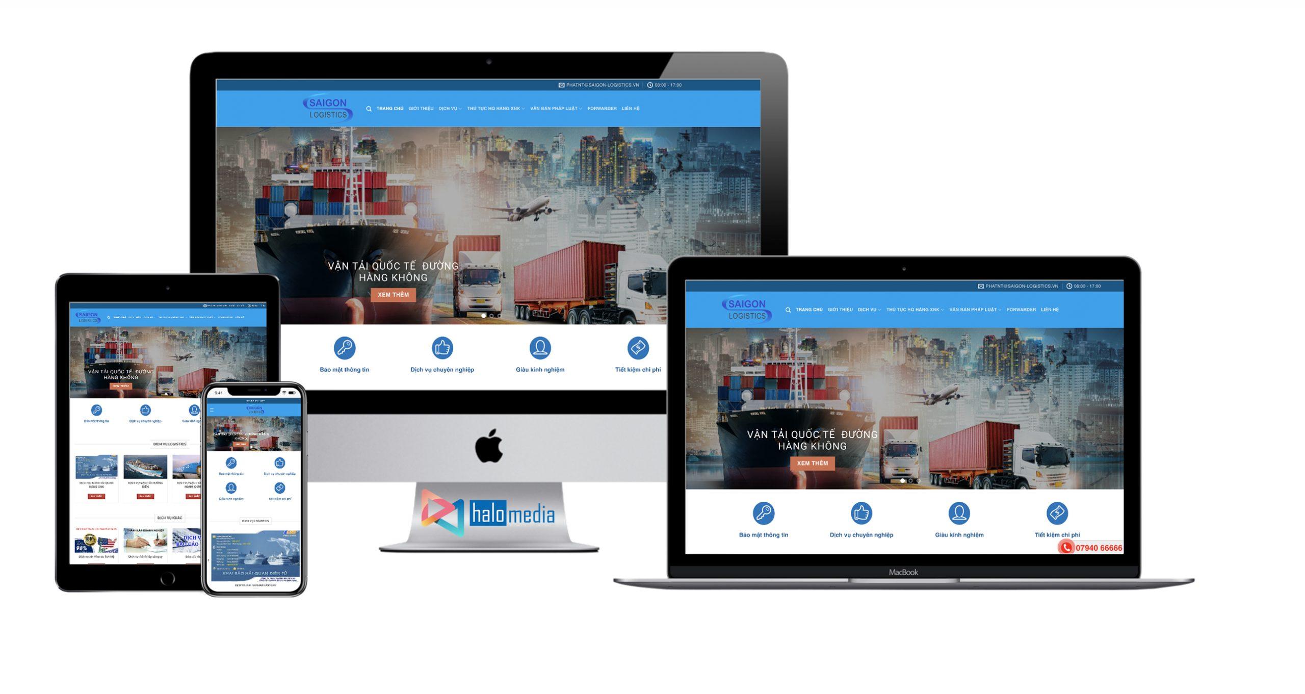 Thiết kế website Logistic chuẩn seo HALO MEDIA