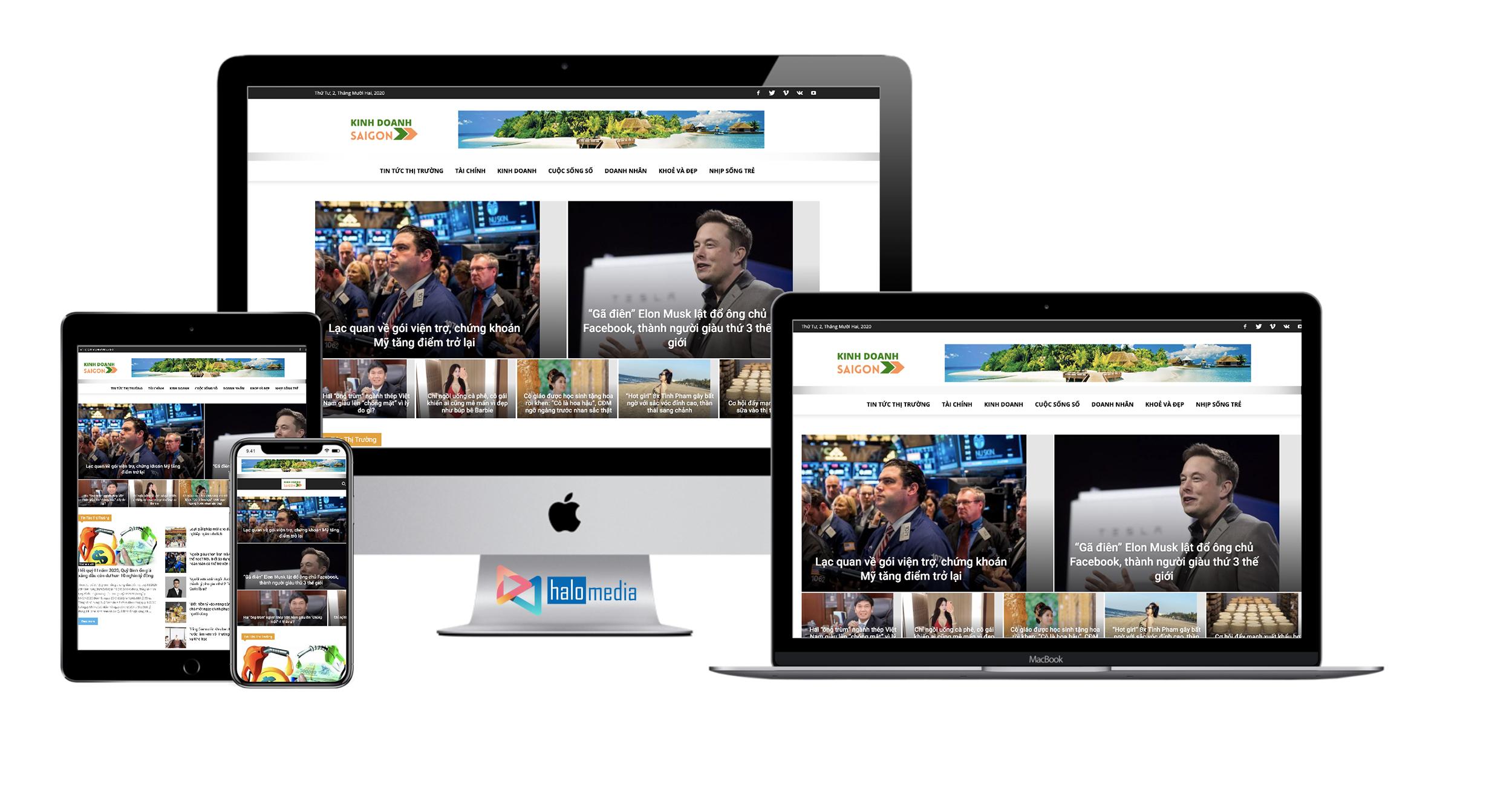 Thiet ke web Tin tuc Chuan SEO Halo Media