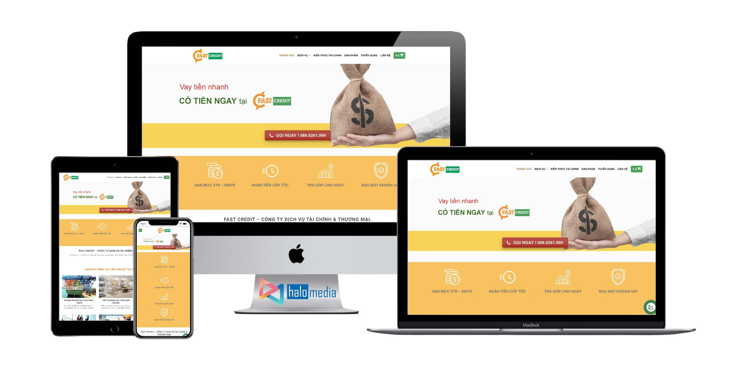 Thiết kế Website Công Ty Dịch Vụ Tài Chính