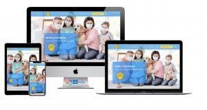 thiet ke website landing page ban khau trang halo media