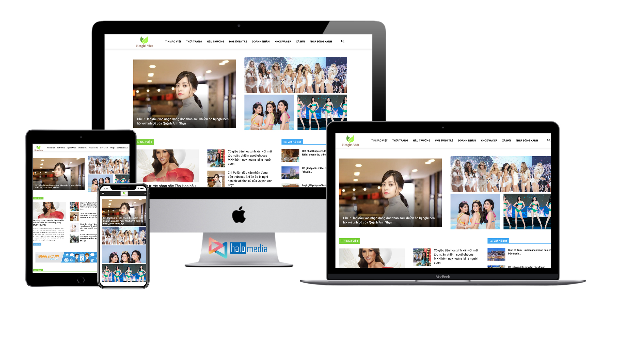 thiet ke website tin tuc chuan seo halo media