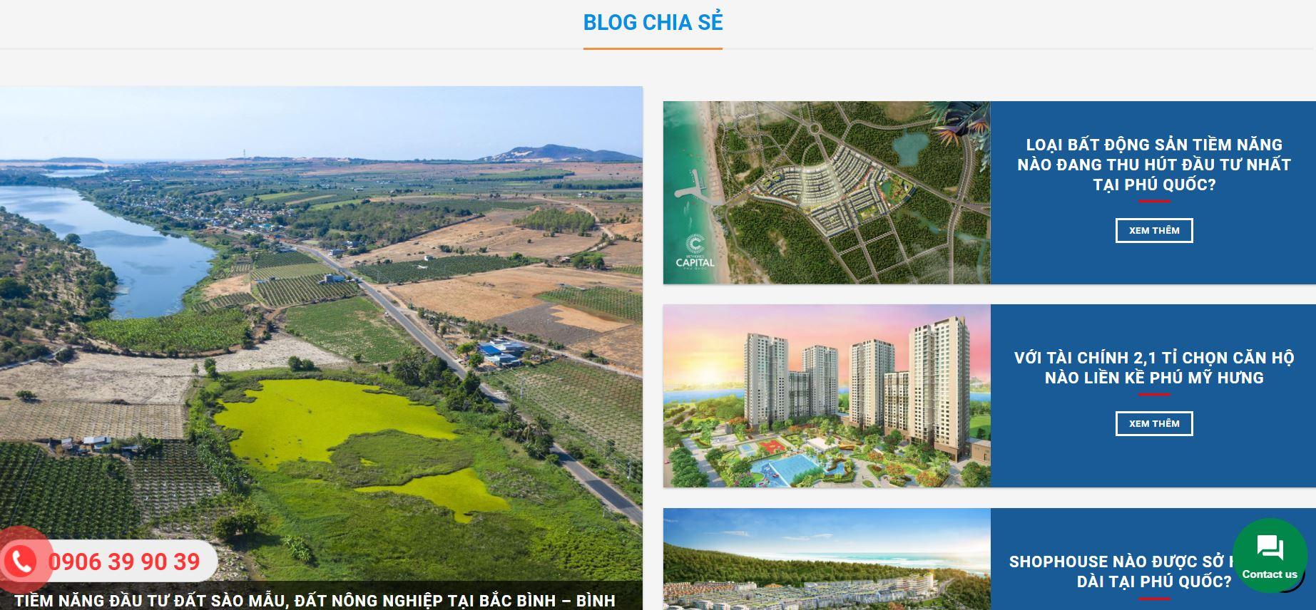 blog chia sẻ trên website bất động sản halo media