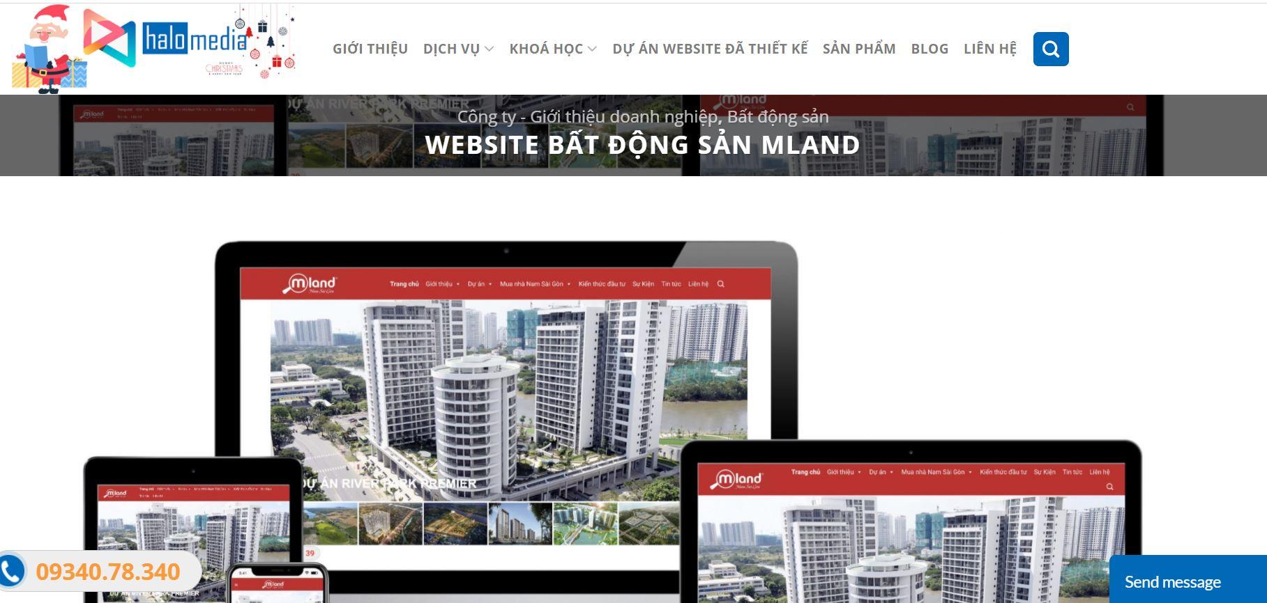 thiết kế website bất động sản chuyên nghiệp halo media