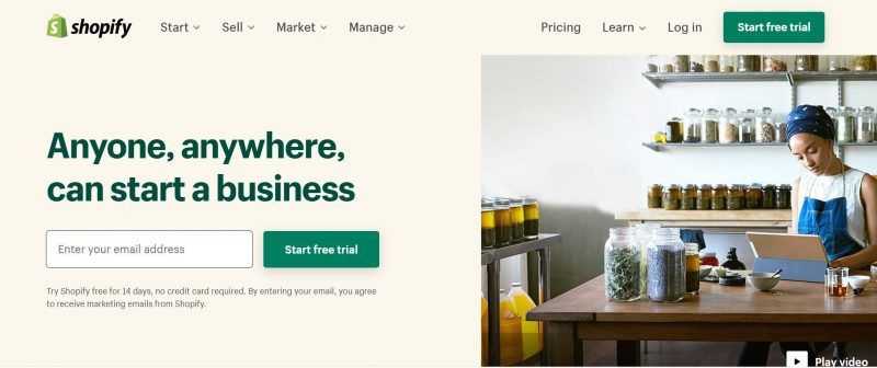 landing page shopify xây dựng halo media
