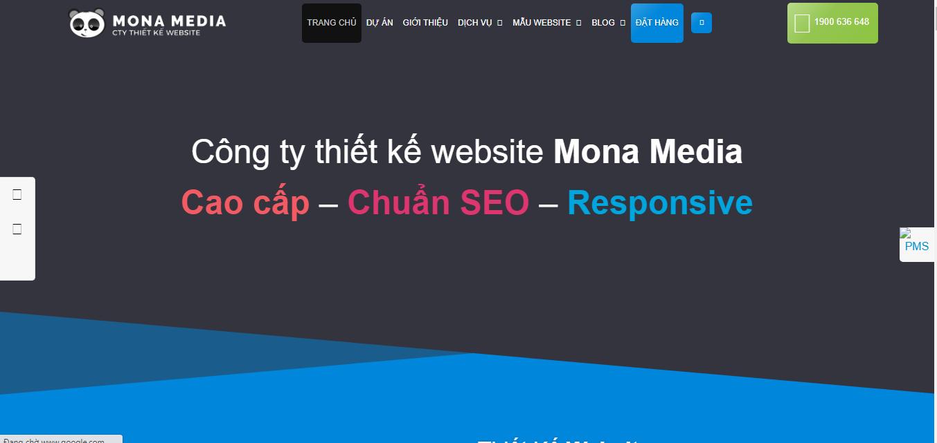 thiết kế web uy tín mona media