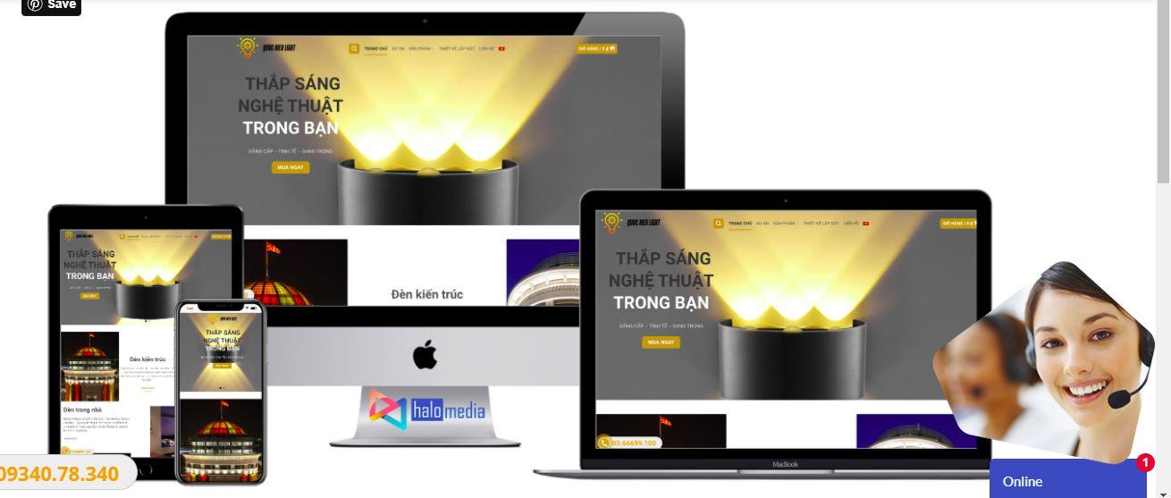 giao diện chuẩn responsive halo media
