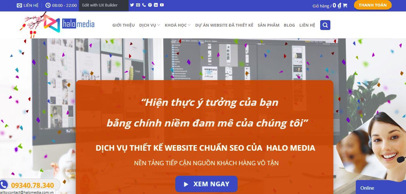 lựa chọn đơn vị thiết kế website halo media